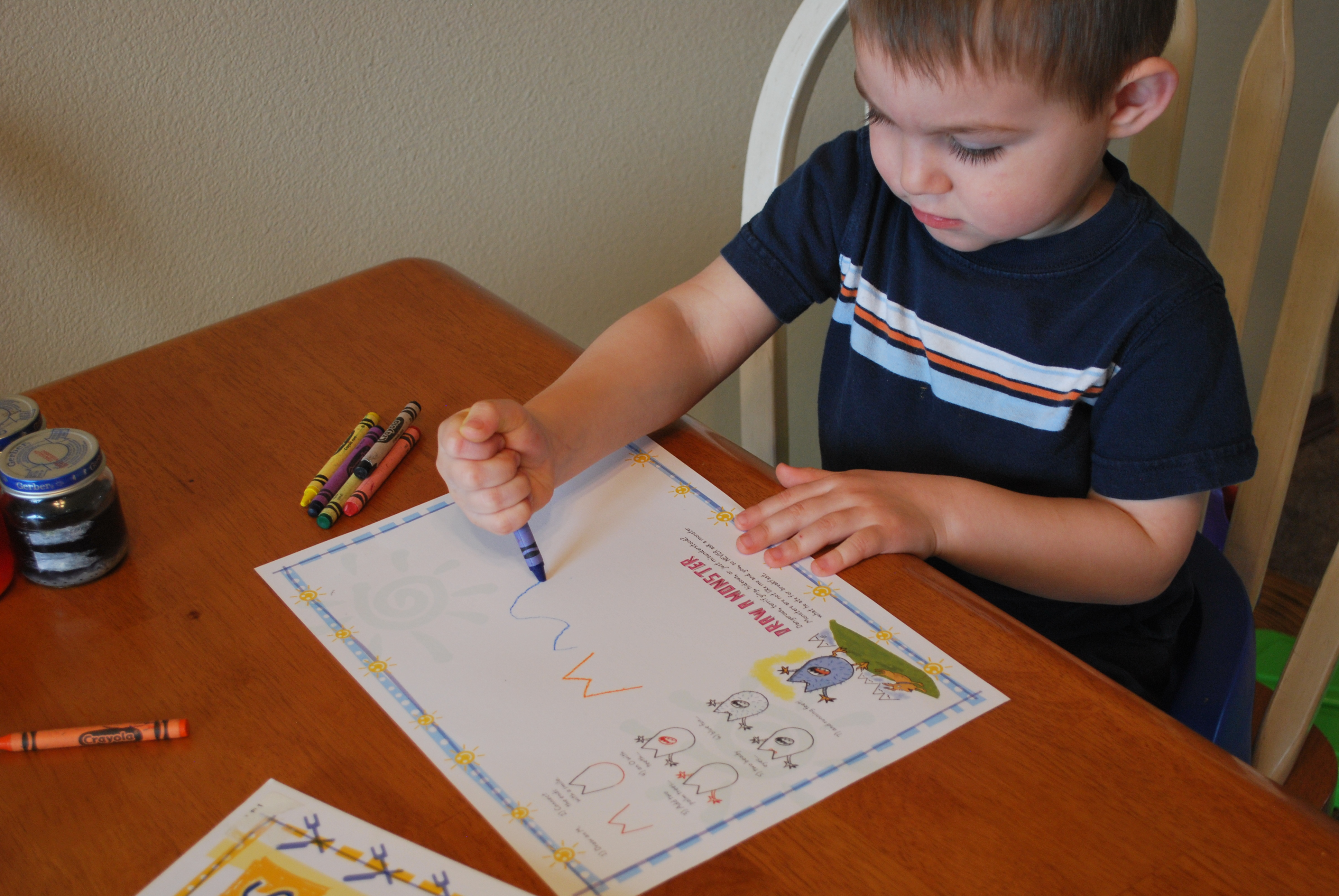 Even Jack Did Some Coloring Before Trying To Eat The Crayons